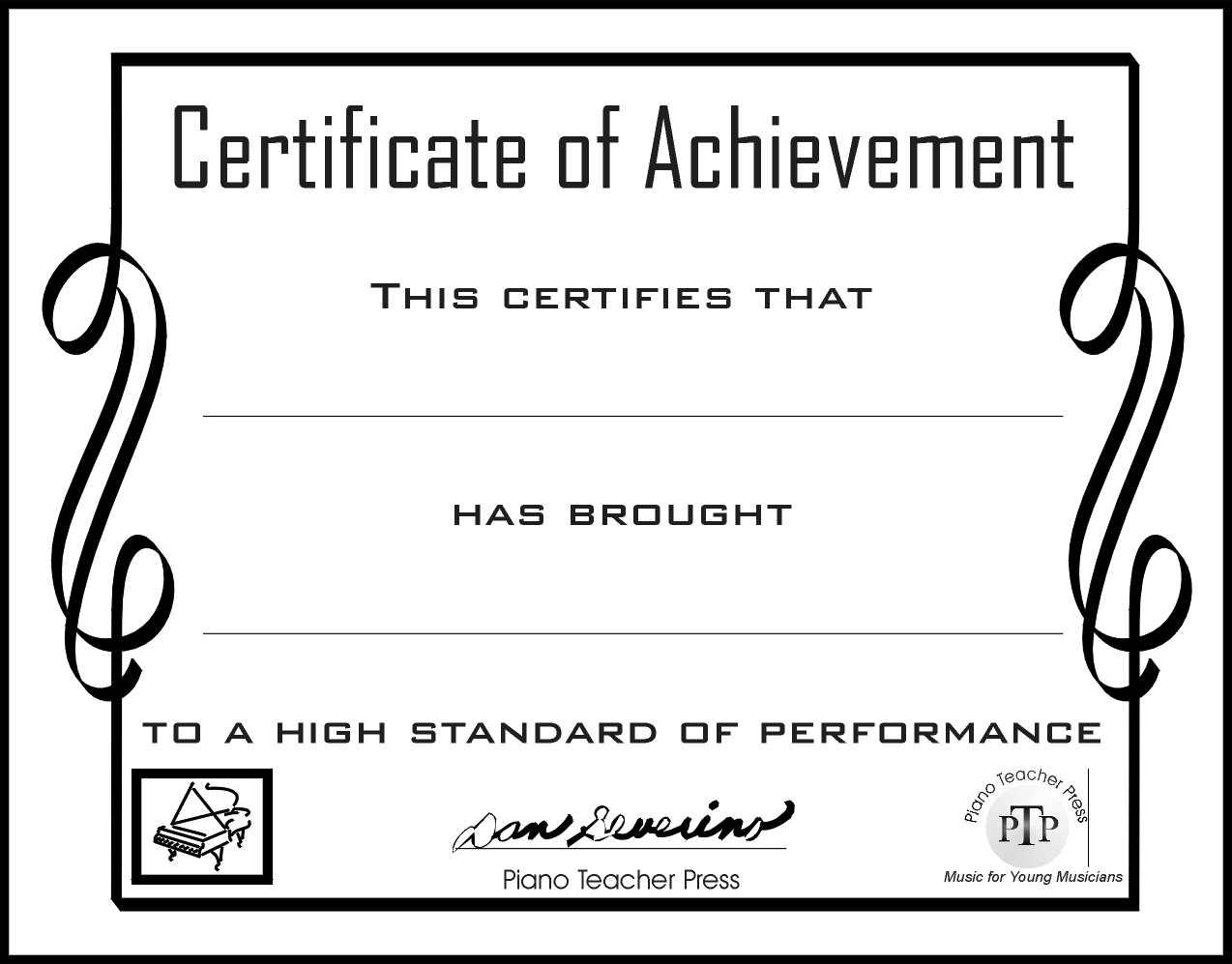 Piano certificate of achievement gidiyedformapolitica piano certificate of achievement yadclub Gallery