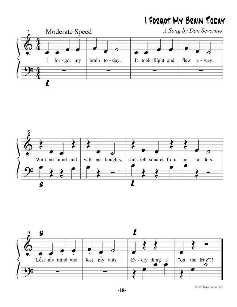 PIANO METHOD - Middle C Repertoire (3/6)
