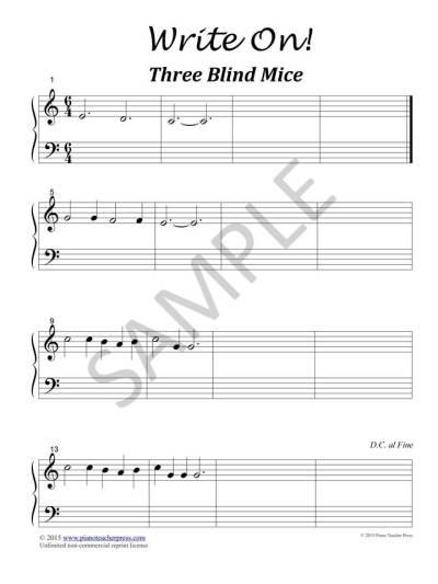 Three Blind Mice SAMPLE