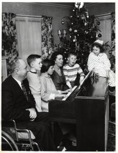 christmas at piano