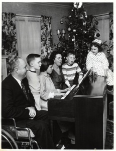 christmas at piano